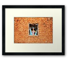 frame of red Framed Print