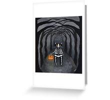 Skeleton Kitty Greeting Card