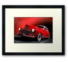 Lipstick and Desire Framed Print