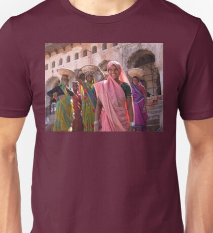 Indian women at work, Orchha, India  Unisex T-Shirt