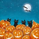 Halloween Black Cats by Ryan Conners