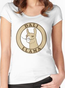 Dali Llama Women's Fitted Scoop T-Shirt