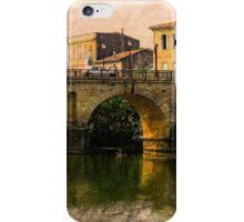Roman Bridge in Sommieres iPhone Case/Skin