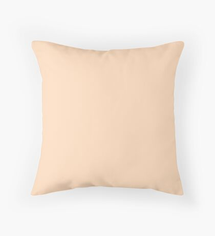 Pale Peach Angelskin Coral Pastel Throw Pillow