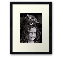 If I don't find my brush soon, I'm pretty sure this bird is gonna stay... Framed Print