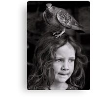 If I don't find my brush soon, I'm pretty sure this bird is gonna stay... Canvas Print