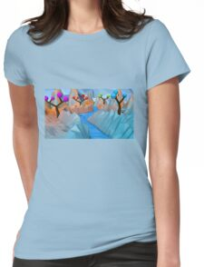 Low Poly Art Womens Fitted T-Shirt