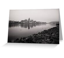 Parliament Budapest near Danube Greeting Card
