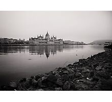 Parliament Budapest near Danube Photographic Print