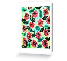 Wall paper of flowers, watercolor Greeting Card