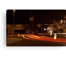 light trails at cleveleys  Canvas Print