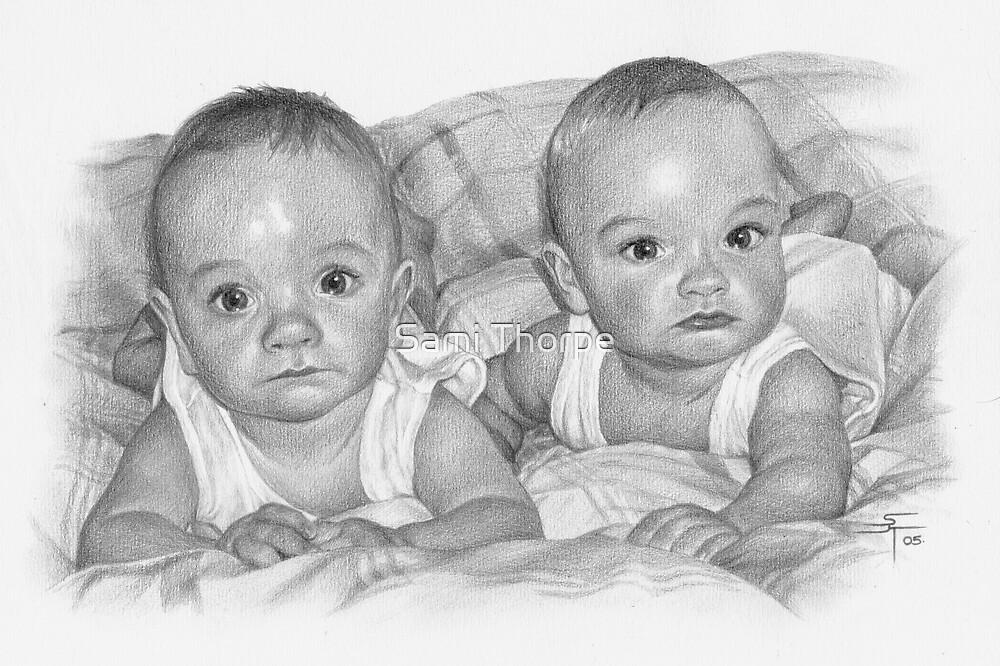 Portrait Commission (Twin boys) by Sami Thorpe