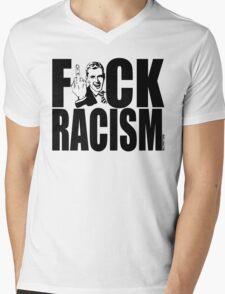 F*CK RACISM Mens V-Neck T-Shirt