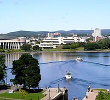 Boats leaving the Rideau Canal, Ottawa, ON by Shulie1