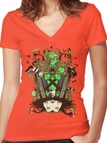 Molly Can't Make Up Her Mind Women's Fitted V-Neck T-Shirt