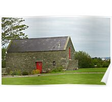 Irish Barn Conversion with Red Doors Poster