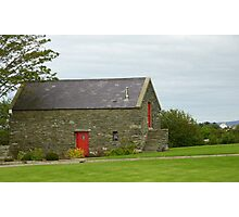 Irish Barn Conversion with Red Doors Photographic Print