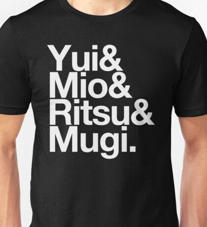 Ho-kago Tea Time - K-On goes Helvetica Unisex T-Shirt
