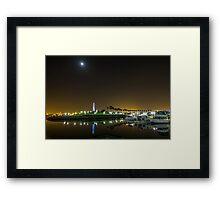Rainbow Harbor Long Beach Framed Print
