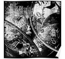 Time in Grunge Poster