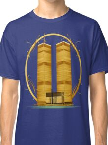 Gold Twin Towers Oval Classic T-Shirt