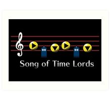 Song of Time Lords Art Print