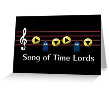 Song of Time Lords Greeting Card