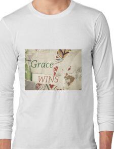 Inspirational message - Grace Wins Long Sleeve T-Shirt