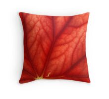 Under Shades of Red Throw Pillow