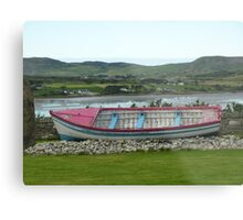 A Retired Boat Beside The Water Metal Print