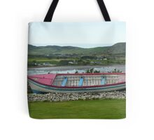 A Retired Boat Beside The Water Tote Bag
