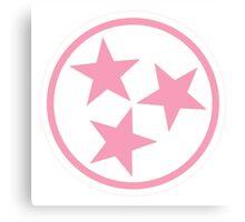 Breast Cancer TN Pink Tristar Canvas Print