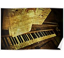 Grungy Piano Poster