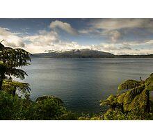 Snow Capped Mt Tarawera Photographic Print