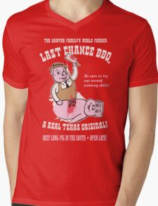 LAST CHANCE BBQ Mens V-Neck T-Shirt
