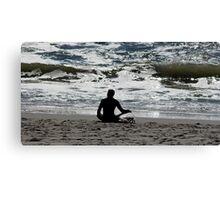 Surf Yoga Canvas Print