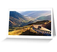 Crown Range Road Lookout Greeting Card
