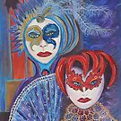 Venetian Masks by Mikki Alhart