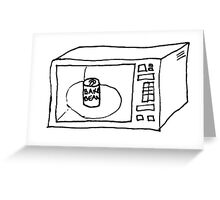 Baked beans in microwave Greeting Card