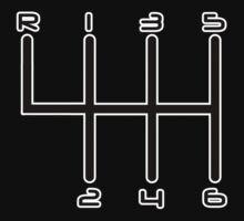 6-Speed Manual Transmission Gear Stick H-Pattern | Unisex T-Shirt