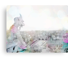Dreaming of Paris - The Watcher - Notre Dame  Canvas Print