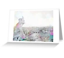 Dreaming of Paris - The Watcher - Notre Dame  Greeting Card