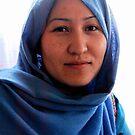 Blue chador women , Afghanistan by yoshiaki nagashima