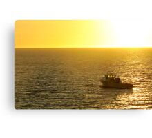 Cray boat in the sunset Canvas Print