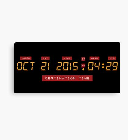Back to the Future Oct 21, 2015 4:29 DeLorean Numbers Canvas Print