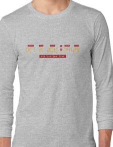 Back to the Future Oct 21, 2015 4:29 DeLorean Numbers Long Sleeve T-Shirt