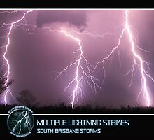 Branded: Multiple Lightning Strikes by SouthBrisStorms