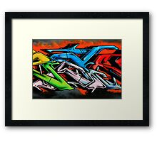 Big City Freaks Graffiti  - part 2 Framed Print