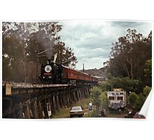 Eltham Festival train on Viaduct 19921115 0003  Poster