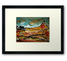 spike mountain..... an isolated view Framed Print